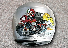 airbrush helm moto guzzi 01 200 big chief custom painting. Black Bedroom Furniture Sets. Home Design Ideas