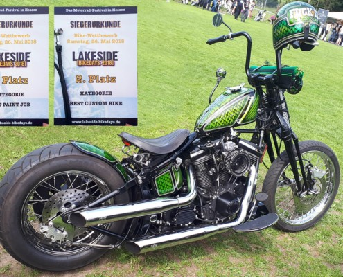 2. Platz Best Paint Job, 2. Platz Best Custom Bike, Lakeside Bikedays 2018