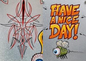 Pinstripes, Pinstriping, Flying Eyeball, Metal Flake